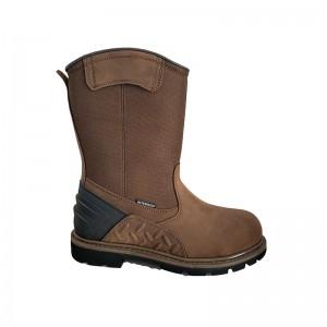 Brown wellington waterproof boot composite toe